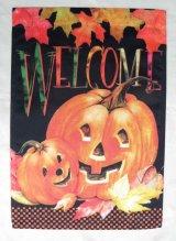 かぼちゃか親子のウェルカムフラッグ